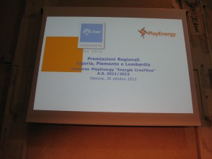 Premiazione fase regionale a Genova
