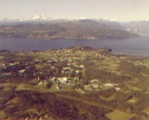veduta aerea di Ispra