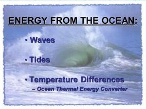 energia dagli oceani